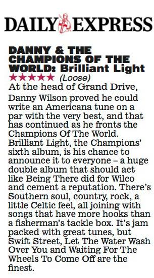 Five Stars for Brilliant Light from The Daily Express
