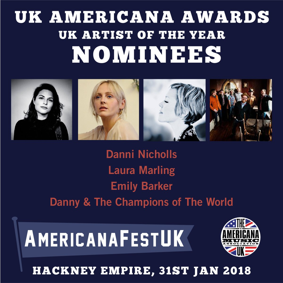 AMA UK 2018 Artist of the Year Nominees